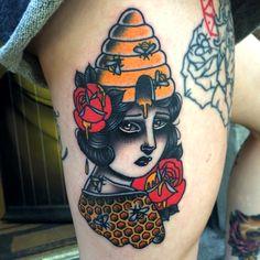 Tattoo done byDanielle Rose. @daniellerosetattoo