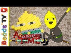 핀과 제이크의 어드벤처 타임 레몬백작 펄러비즈 만들기 Adventure time Earl of Lemongrab perler beads hama beads pattern - YouTube