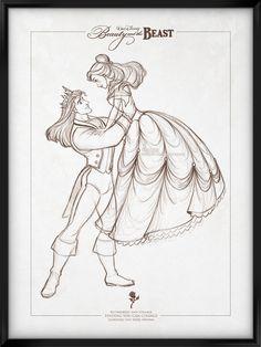 Disney Signature Collection - BEAUTY AND THE BEAST by davidkawena.deviantart.com on @DeviantArt