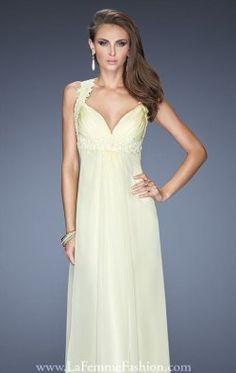 Lace Empire Gown by La Femme 20134