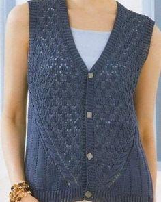 Women Knit Vest 2020 - How do you start a knit stitch?, Women Knit Vest 2020 - How do you start a knit stitch? Knitting Paterns, Lace Knitting, Knitting Designs, Knit Vest Pattern, Knit Patterns, Loom Knit Hat, Knitted Hats, Gents Sweater, Crochet Woman