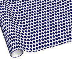 Dark Blue Polka Dots Gift Wrap