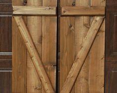 Z-Bar Shutters -Unfinished - Cedar Shutters - Wood Exterior Shutters Cedar Shutters, Rustic Shutters, Exterior Shutters, Rustic Exterior, Backyard Camping Parties, Dark Walnut Stain, Board And Batten, Farms Living, Barndominium