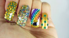 The Sparkle Queen: Glittery Skittle of Sparkle – Get Lucky Nail Art Challenge Day 3