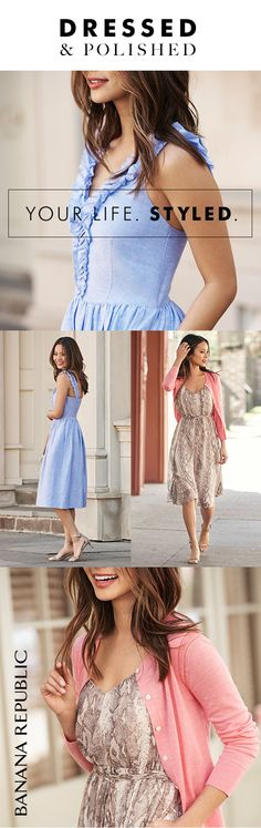 Fit-and-flare. Sheath. Shift. Shirtdress. Maxi. Midi. Just some of our new favorite summer dresses on super-stylish bloggers Jamie Chung and Fashion Jackson. Find more flattering options for wherever summer takes you.