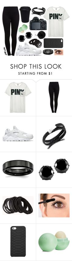 """""""5th October - No school today"""" by jvc-nike ❤ liked on Polyvore featuring Victoria's Secret, Pieces, NIKE, West Coast Jewelry, Forever 21, GiGi New York, Eos and Michael Kors"""