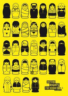 Political Illustrations for the magazine Amnesty Aktion