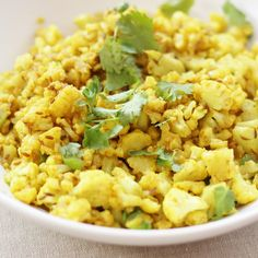Indian Spiced Cauliflower Rice Recipe Side Dishes with cauliflower ...