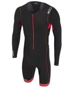 HUUB Core Full Sleeve Triathlon Suit - Mens Black/Red