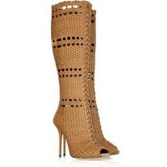 Gucci Woven leather boots