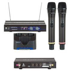 VocoPro UHF-3205 Dual Rechargeable Wireless Microphone System Set 6