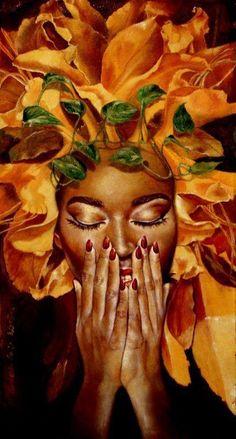 "fyblackwomenart: ""perfume by Maratamara "" Black Love Art, Black Girl Art, Art Girl, African Art Paintings, Black Art Pictures, Black Artwork, Wow Art, African American Art, Hair Art"