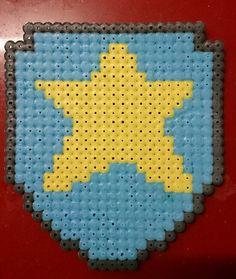 Chase logo - Perler Bead pattern #PerlerPatterns #PawPatrolPatterns