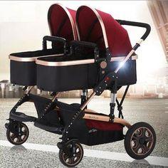 stock clear twin baby cart width 4 mode high landscape pram carrier poussette stroller no bugaboo donkey Double Baby Strollers, Twin Strollers, Best Double Stroller, Best Baby Strollers, Double Stroller For Twins, Baby Jogger, Bugaboo Donkey, Best Lightweight Stroller, Umbrella Stroller