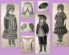 PATRON-LA-MODE-ILLUSTREE-vetement-poupee-ancienne-n-48-de-1886-DOLL-PATTERN