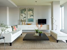 modern living room by Jessica Helgerson Interior Design | Not sure what it is, but I like this room