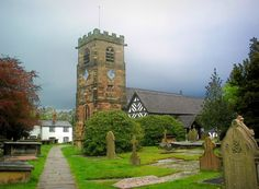 St Oswald's Church, Lower Peover - Wikipedia, the free encyclopedia Flagstone Flooring, Tudor Style, English Countryside, Historical Photos, Big Ben, Cathedral, Beautiful Places, Saints, Mansions