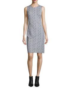 TCGH8 Diane von Furstenberg Regenna Mini Ribbon Rectangles Sheath Dress