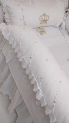 kit berço provençal branco