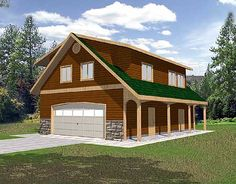 Unique garage plans and unique garage apartment plans offering one-of-a-kind floor plans and features. Browse this collection of unique garage designs. Style At Home, Country Style House Plans, Cabin Plans, Shed Plans, Architectural Design House Plans, Architecture Design, Garage Design, House Design, Garage Apartment Plans