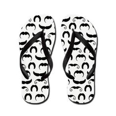 Retro Mustaches Flip Flops @Wendy Felts Felts sims. For Kate :)