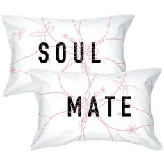 """BoldLoft """"Soulmate"""" Pillowcase Set-Romantic Valentine's Day Gifts for Couples,Cute Valentine's Day Gifts for Him or Her,Valentines Day Gift Ideas"""
