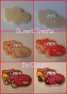 Cars Disney Cookies For Kids 17 Super Ideas Car Themed Parties, Cars Birthday Parties, Birthday Cookies, Cupcake Cookies, Auto Cookies, Cookie Images, Disney Cookies, Disney Cars Party, Race Car Party