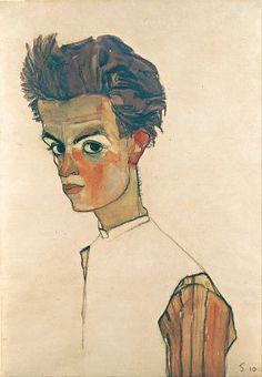 Selbstporträt von Egon Schiele