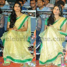 TV Actress in Lime Yellow Saree | Saree Blouse Patterns