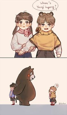 :,)) yoongi loves kumamon so -,- Fanart Bts, Yoonmin Fanart, Jungkook Fanart, Vkook Fanart, Bts Anime, Vkook Memes, Hello Kitty, Bts Memes Hilarious, Dibujos Cute