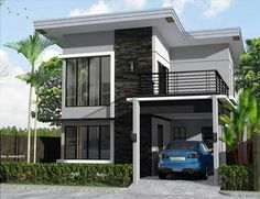 Two floor house design simple 2 storey house design simple two storey house plans awesome modern Modern House Plans, Small House Plans, Modern House Design, Modern Zen House, Villa Design, Modern Houses, Two Storey House Plans, 2 Storey House, 2 Story House Design