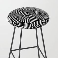 Abstract Navy Blue & White Lines And Triangles Pattern - Mix And Match With Simplicity Of Life Kitchen Bar Stool by Art By Simplicity Of Life - Black Black And White Pillows, Black And White Lines, Blue And White, Navy Blue, Life Kitchen, Triangle Pattern, Herringbone Pattern, Pattern Mixing, Mix N Match