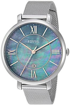 ac53c76a2 Fossil Women's 'Jacqueline' Quartz Stainless Steel Casual Watch,  Color:Silver-Toned