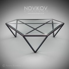 TRI magazine table by Novikov Designs www.novikovdesign… – metal of life