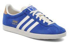 Gave Sneakers Gazelle og w van Adidas Originals (Blauw) Sneakers van het merk Adidas Originals voor Dames . Uitgevoerd in Blauw gemaakt van Nubuck.