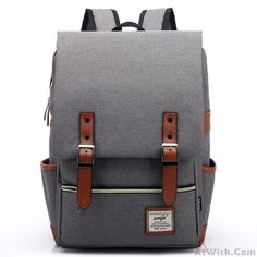 1edce9e4abc3 Retro Large Travel Backpack Leisure Leather Canvas Backpack School Bag only   33.99