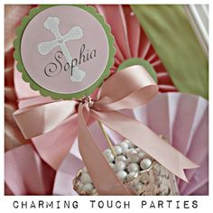 First Communion / Baptism decor.  by CharmingTouchParties on Etsy