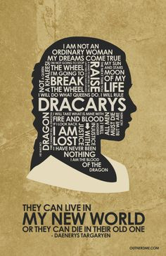 Game of Thrones (2011–) ~ TV Series Quote Poster by Stephen Poon #amusementphile