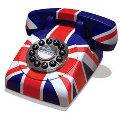 Union Jack Retro Telephone