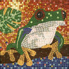 Mosaic Frog - Mosaik Frosch - Mosaique Grenouille - Micro ceramic Tiles - Kit Alea Mosaik