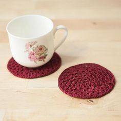 Granny Circle Crochet Coasters