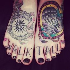 Cute tattoos on the feets. #tattoo #tattoos #ink