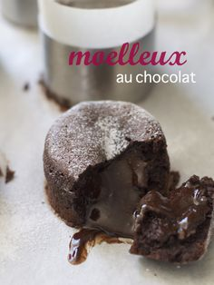 moelleux au chocolat (molten chocolate cake)