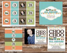 Custom+Printable+Choo+Choo+Train+Birthday+by+thepaperblossomshop,+$40.00