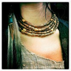 Tulsi necklace by PrimitiveTribalCraft on Etsy, $60.00