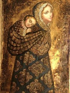 Madonna and Child Peruvian Style- I love that this shows Mary as a baby-wearing mama ❤️ Religious Images, Religious Icons, Religious Art, Blessed Mother Mary, Divine Mother, La Madone, Images Of Mary, Queen Of Heaven, Mama Mary