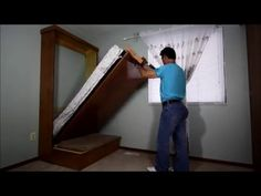 DIY wall bed for under $150 - YouTube