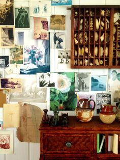 A close up of the most beautiful inspiration walls ever.