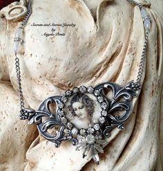 Assemblage Necklace  Beautiful Statement by SecretsandStories, $54.00