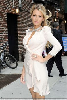 Blake...I always love her style & her & makeup!
